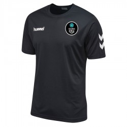 Columbus Futsal Core Poly Tee Black